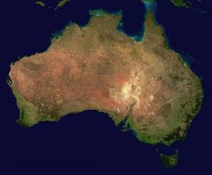 אוסטרליה מפה Australia Map
